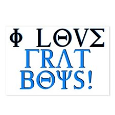 I love frat boys Postcards (Package of 8)