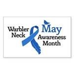 May Warbler Neck Awarness Mont Sticker (Rectangle)