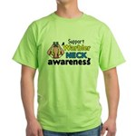 Support Warbler Neck Awareness Green T-Shirt