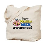 Support Warbler Neck Awareness Tote Bag