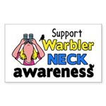 Support Warbler Neck Awareness Sticker (Rectangle)