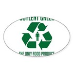 Strk3 Soylent Green Oval Sticker