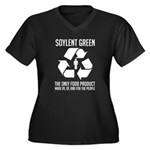 Strk3 Soylent Green Women's Plus Size V-Neck Dark