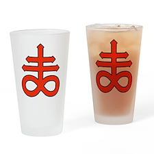 The Satanic Cross Drinking Glass