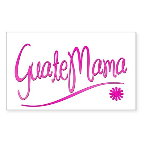 GuateMama Text Rectangle Sticker