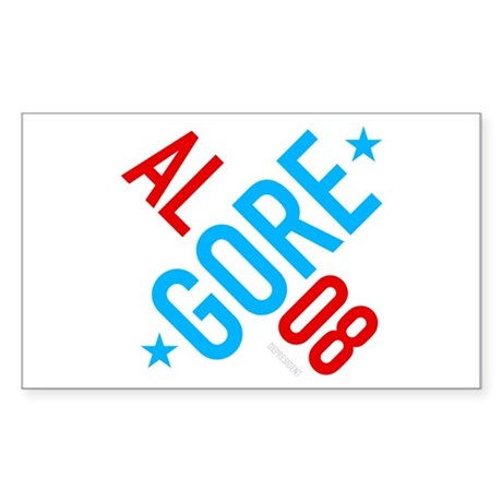 Twisted Al Gore 08 Rectangle Sticker