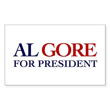 Al Gore for President Rectangle Sticker