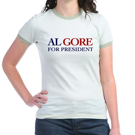 Al Gore for President Jr Ringer T-Shirt