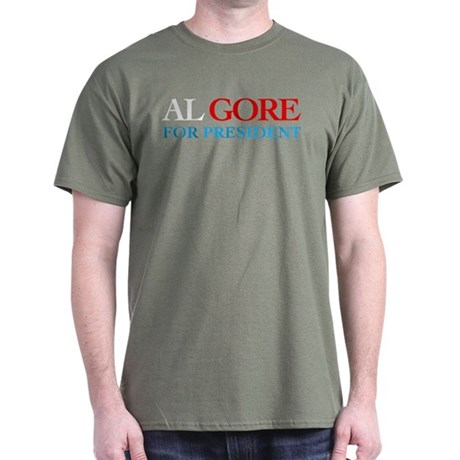 Al Gore for President Military Green T-Shirt