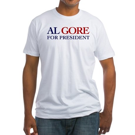 Al Gore for President Fitted T-Shirt