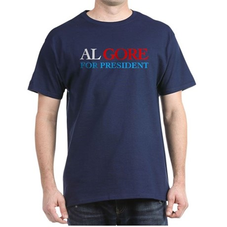 Al Gore for President Navy T-Shirt