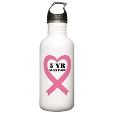 Breast Cancer 5 Year S Water Bottle