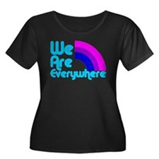 we_are_everywhere_bi_blk Plus Size T-Shirt