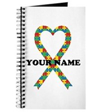 Personalized Autism Ribbon Journal