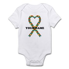 Personalized Autism Ribbon Infant Bodysuit