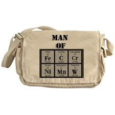 Man of Steel Periodic Elements Messenger Bag