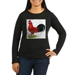 buttercup Rooster Women's Long Sleeve Dark T-Shirt