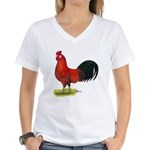 buttercup Rooster Women's V-Neck T-Shirt