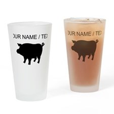 Custom Pig Silhouette Drinking Glass