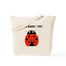 Custom Red Ladybug Tote Bag