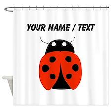 Custom Red Ladybug Shower Curtain