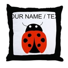 Custom Red Ladybug Throw Pillow