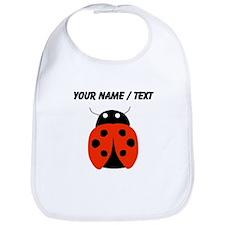 Custom Red Ladybug Bib