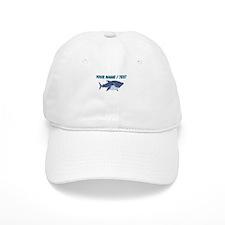 Custom Cartoon Shark Baseball Baseball Cap
