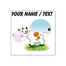 Custom Cartoon Cow Sticker