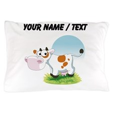 Custom Cartoon Cow Pillow Case