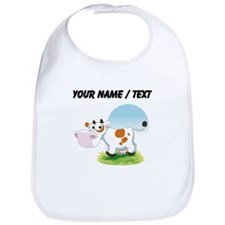 Custom Cartoon Cow Bib