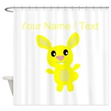 Custom Yellow Bunny Shower Curtain