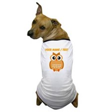 Custom Orange Owl Dog T-Shirt