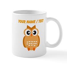 Custom Orange Owl Mugs