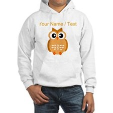 Custom Orange Owl Hoodie