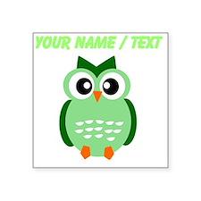 Custom Green Owl Sticker