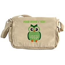 Custom Green Owl Messenger Bag