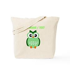 Custom Green Owl Tote Bag