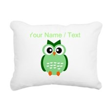 Custom Green Owl Rectangular Canvas Pillow