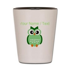 Custom Green Owl Shot Glass