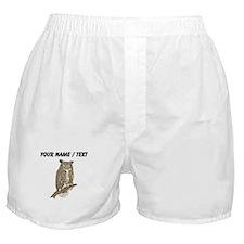 Custom Eurasian Eagle-Owl Boxer Shorts