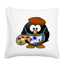 Penguin-Cartoon 007 Square Canvas Pillow