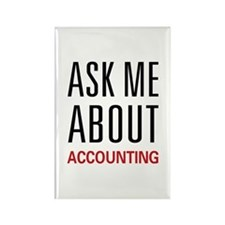 Ask Me Accounting Rectangle Magnet