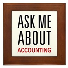 Ask Me Accounting Framed Tile