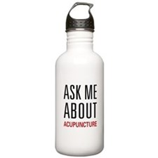 Ask Me Acupuncture Water Bottle