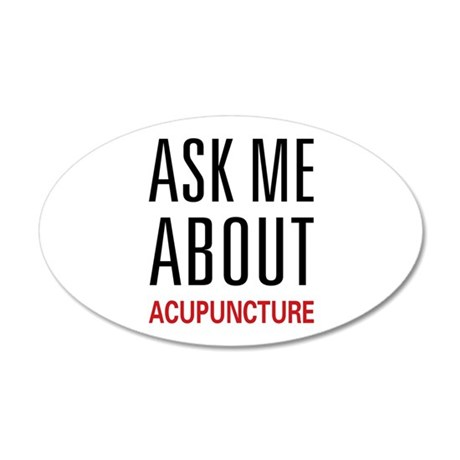 Ask Me Acupuncture 38.5 x 24.5 Oval Wall Peel