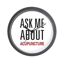 Ask Me Acupuncture Wall Clock
