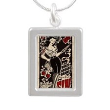 Pin-ups Silver Portrait Necklace