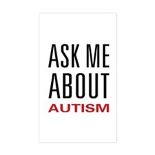 Ask Me Autism Rectangle Decal