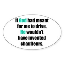 God/Chauffeurs Oval Decal